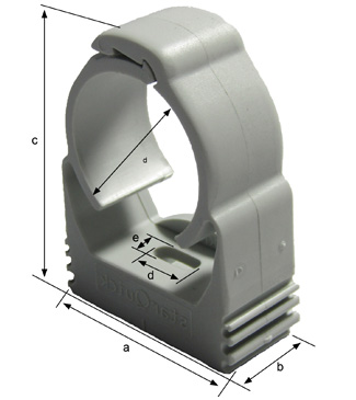 Dimensions fixing clamp